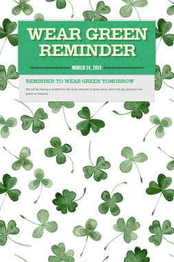 Wear Green Reminder