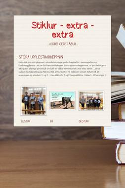 Stiklur - extra - extra