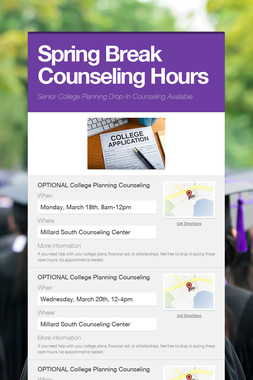 Spring Break Counseling Hours