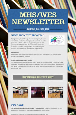 MHS/WES Newsletter