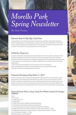 Morello Park Spring Newsletter