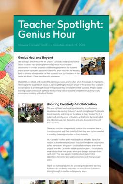Teacher Spotlight: Genius Hour