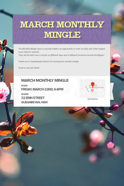 March Monthly Mingle