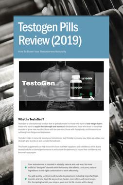 Testogen Pills Review (2019)