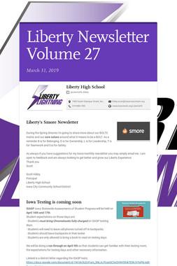 Liberty Newsletter Volume 27