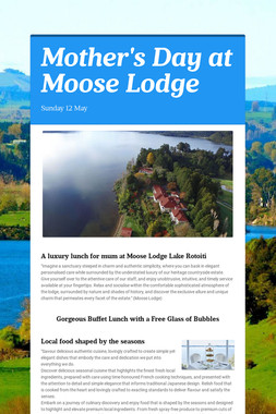 Mother's Day at Moose Lodge