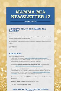 Mamma Mia Newsletter #2