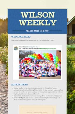 Wilson Weekly