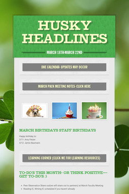 Husky Headlines