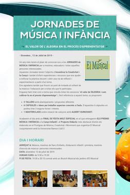 JORNADES de MÚSICA i INFÀNCIA