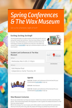 Spring Conferences & The Wax Museum