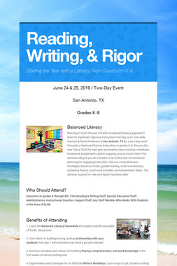 Reading, Writing, & Rigor