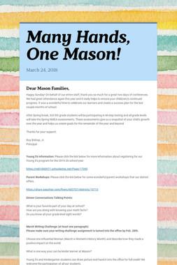 Many Hands, One Mason!