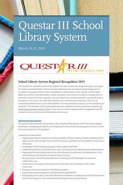 Questar III School Library System
