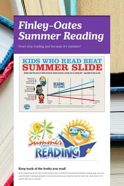 Finley-Oates Summer Reading