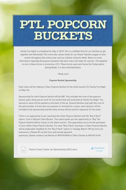 PTL Popcorn Buckets