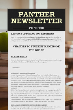 Panther Newsletter
