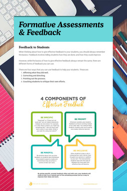 Formative Assessments & Feedback