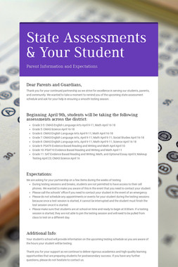 State Assessments & Your Student