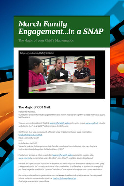 March Family Engagement...in a SNAP
