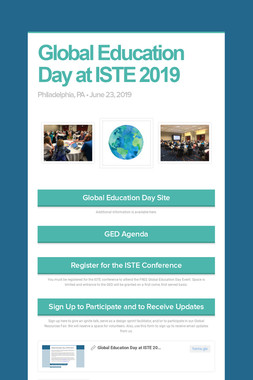 Global Education Day at ISTE 2019