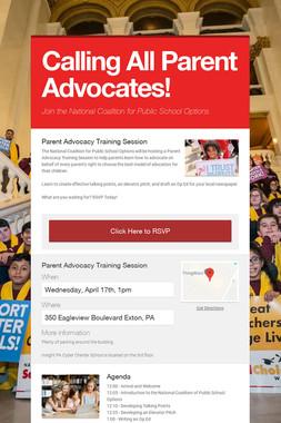 Calling All Parent Advocates!