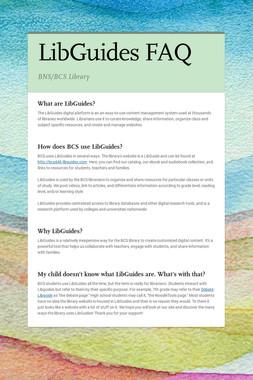 LibGuides FAQ
