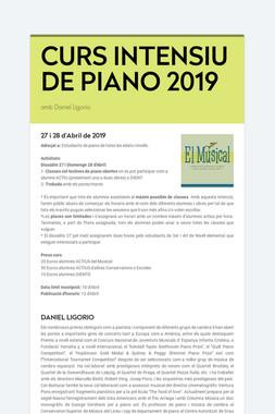 CURS INTENSIU DE PIANO 2019