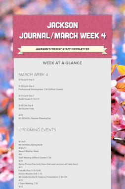 JACKSON JOURNAL/MARCH WEEK 4