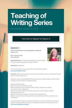 Teaching of Writing Series