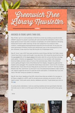 Greenwich Free Library Newsletter