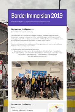 Border Immersion 2019