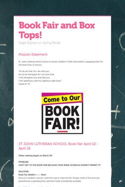 Book Fair and Box Tops!