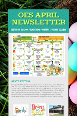 OES April Newsletter