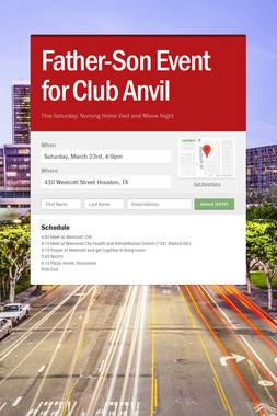Father-Son Event for Club Anvil