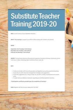 Substitute Teacher Training 2019-20