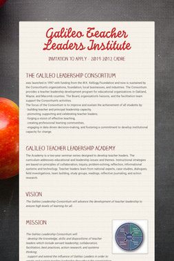 Galileo Teacher Leaders Institute