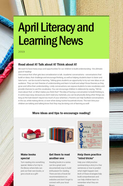 April Literacy and Learning News