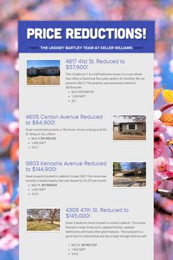 Price Reductions!