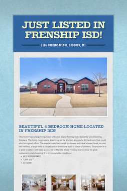 Just Listed in Frenship ISD!