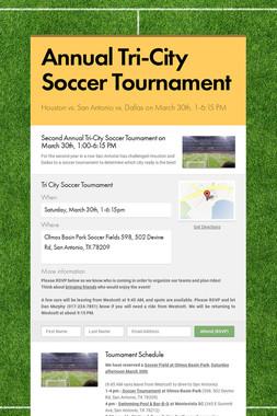 Annual Tri-City Soccer Tournament