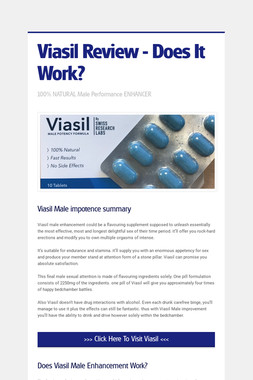 Viasil Review - Does It Work?