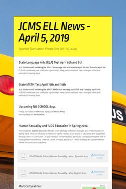 JCMS ELL News - April 5, 2019