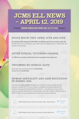 JCMS ELL News - April 12, 2019
