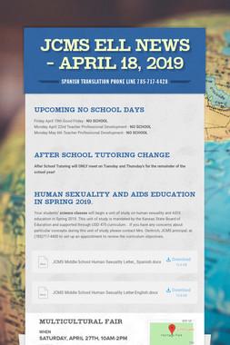 JCMS ELL News - April 18, 2019
