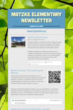Matzke Elementary Newsletter