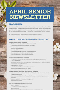 April Senior Newsletter