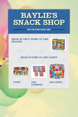 Baylie's snack shop
