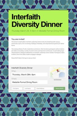 Interfaith Diversity Dinner