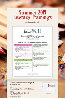 Summer 2019 Literacy Training's